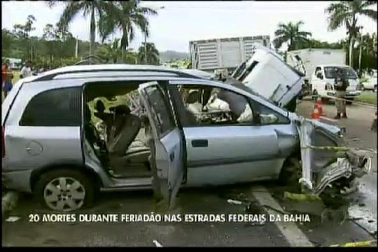 Acidentes nas estradas baianas