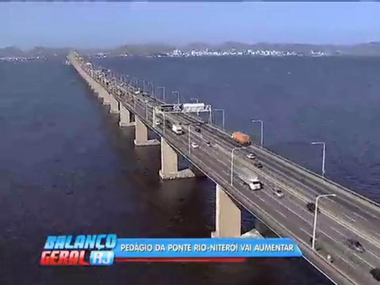 Pedágio da ponte Rio-Niterói vai aumentar a partir desta quarta-feira (1)