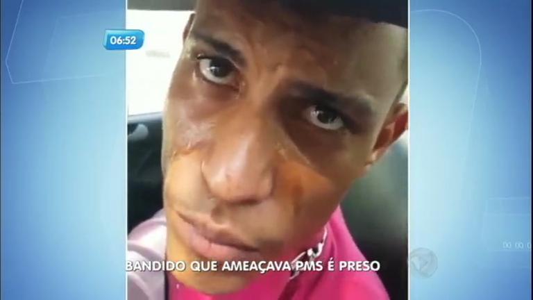 Bandido que gravou vídeo ameaçando PMs é preso e vira motivo ...