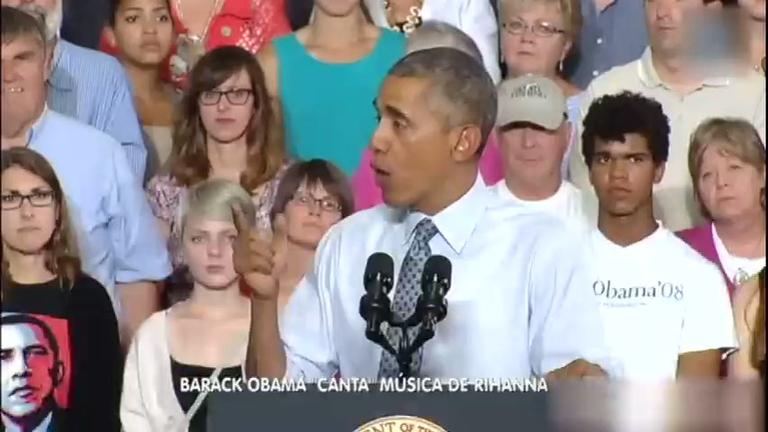 """Hora da Venenosa: Barack Obama """"canta"""" música de Rihanna ..."""
