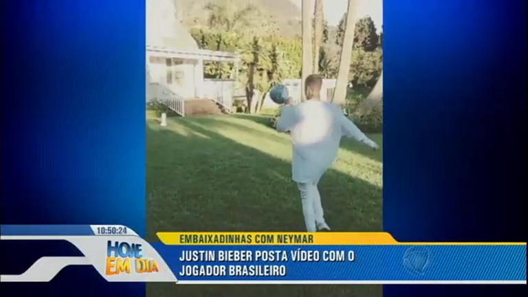 Justin Bieber mostra talento ao bater bola com Neymar; veja ...