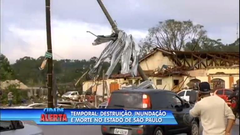 Temporal e ventos fortes provocam destruição, inundação e mortes ...