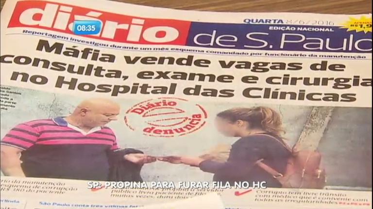 Jornal denuncia venda de vagas no Hospital das Clínicas - Notícias ...