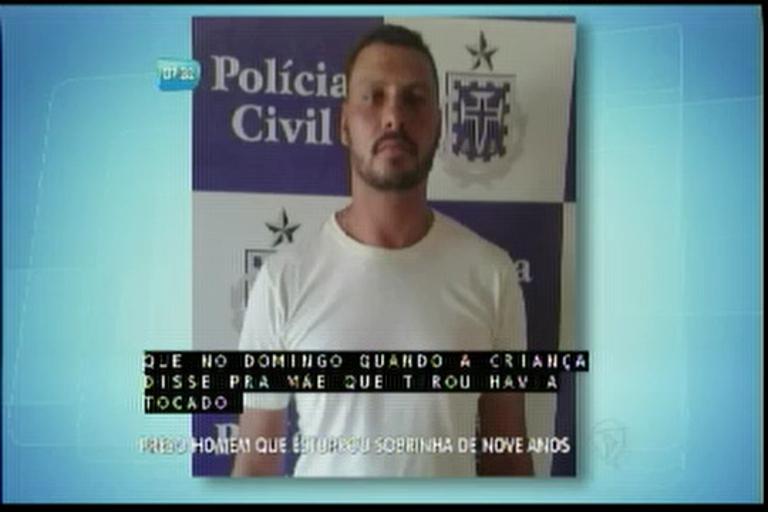 Preso homem que estuprou sobrinha de 9 anos - Bahia - R7 Bahia ...