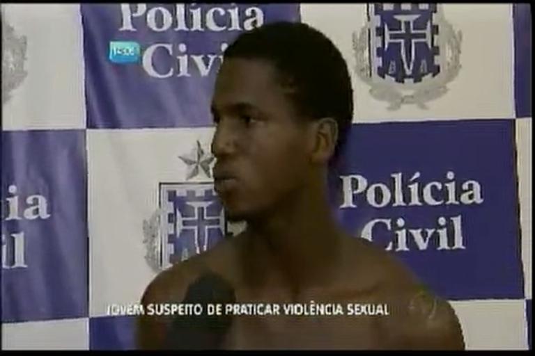 Jovem suspeito de praticar violência sexual - Bahia - R7 Balanço ...