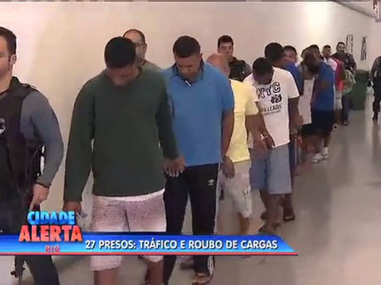 Operação policial prende 27 suspeitos de tráfico de roubo de cargas