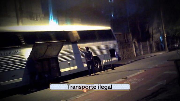 Domingo Espetacular flagra o transporte ilegal de passageiros e ...