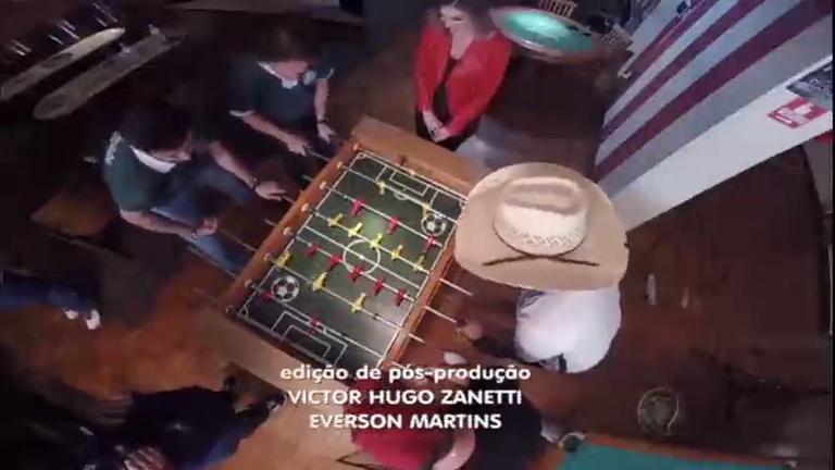 Esporte Fantástico convida Bruno & Barreto para disputa de pebolim