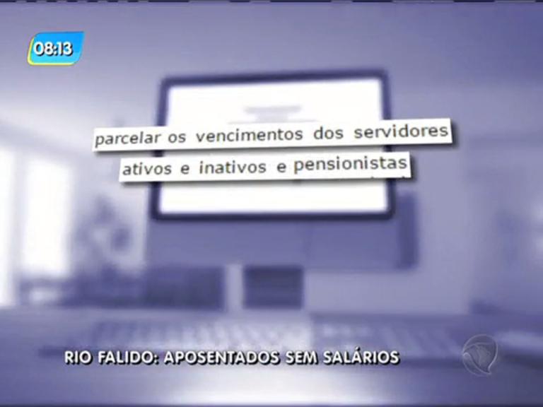 Salários de maio de 400 mil servidores do RJ serão parcelados