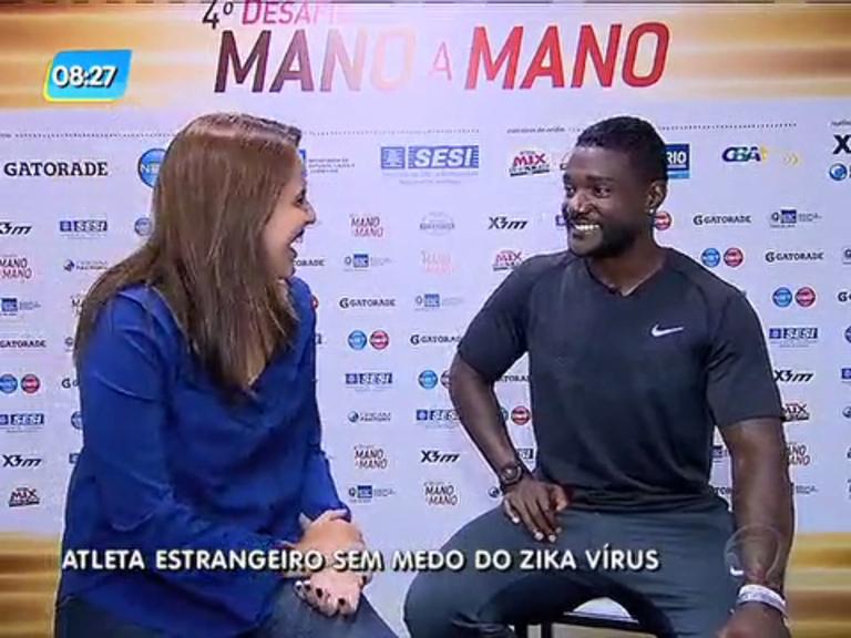 Velocista Justin Gatlin diz não se preocupar com zika vírus e sim com Usain Bolt