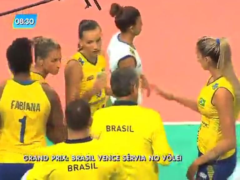 Vôlei feminino do Brasil vence Sérvia no Grand Prix