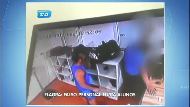 Flagra: falso personal trainer furta alunos em academia de Vitória (ES)