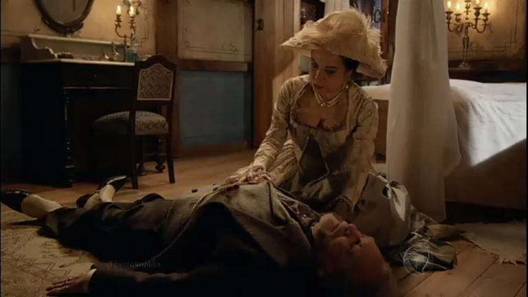 """Beatrice desaba em lágrimas sobre o corpo de Custódio: """"Por que ..."""