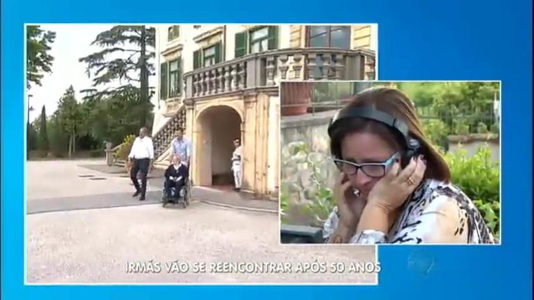 Na Itália, Gugu promove reencontro de irmãs depois de 50 anos de ...