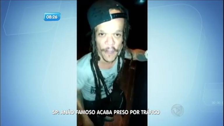 Anão famoso é preso por tráfico de drogas em São Paulo