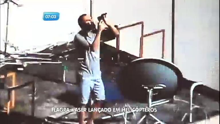 Homem é preso após mirar laser em direção a helicóptero da ...