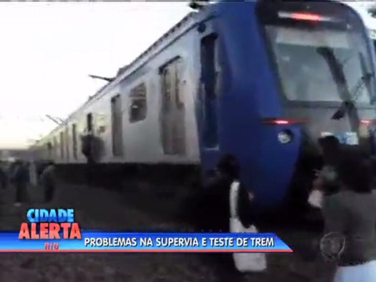 Presidente do COI testa trem após 3 dias de transtornos no serviço ...