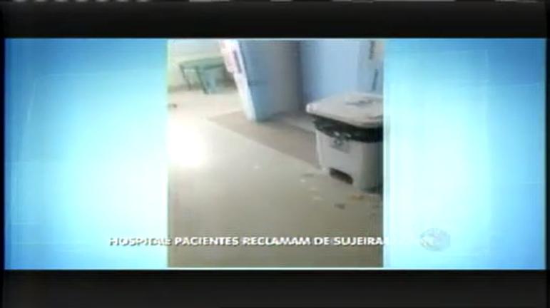 Pacientes reclamam de sujeira em hospital de Contagem (MG ...