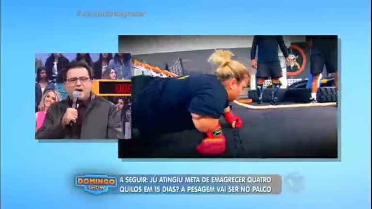 Esposa do anão Marquinhos encara treino do BOPE para emagrecer