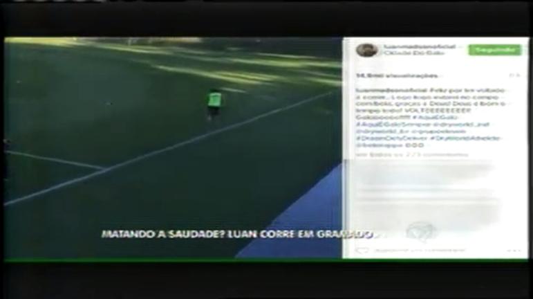 Esporte: Luan volta a correr no CT do Atlético - Minas Gerais - R7 ...