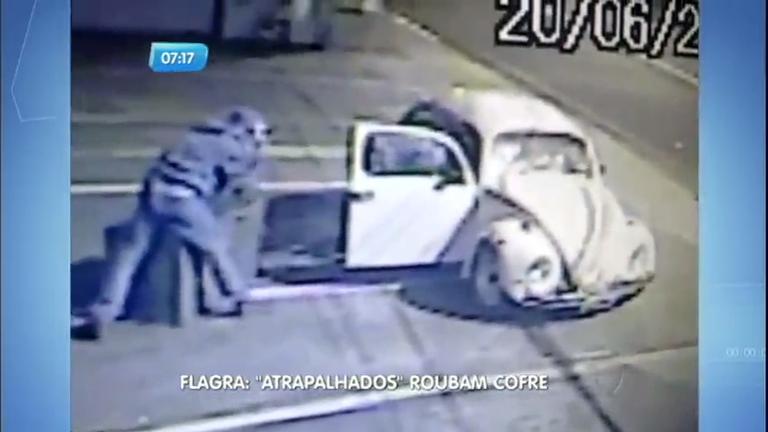 """Ladrões """"atrapalhados"""" tentam roubar cofre de comércio - Notícias ..."""