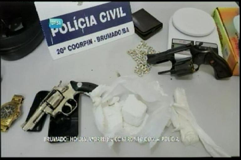 Brumado: homem morre em confronto com a polícia