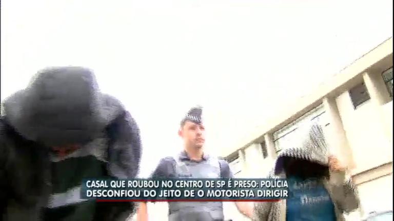 Casal é preso após furtar carro na região central de São Paulo ...