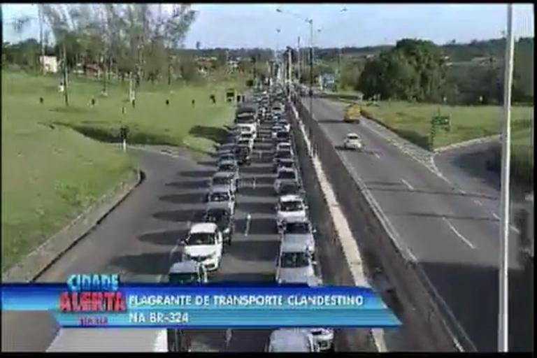 Flagrante de transporte clandestino na BR-324 - Bahia - R7 Cidade ...