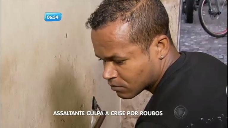"""Ladrão é preso e justifica crimes: """"Por causa dessa crise fiquei ..."""