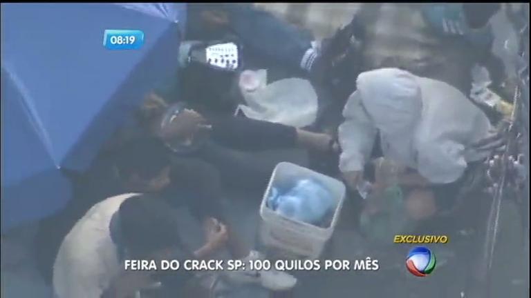 Traficantes armam barracas e vendem drogas livremente na ...