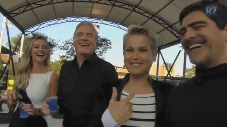 Xuxa e Junno enfrentam casal Roberto Justus e Ana Paula em prova do Power Couple; veja os bastidores