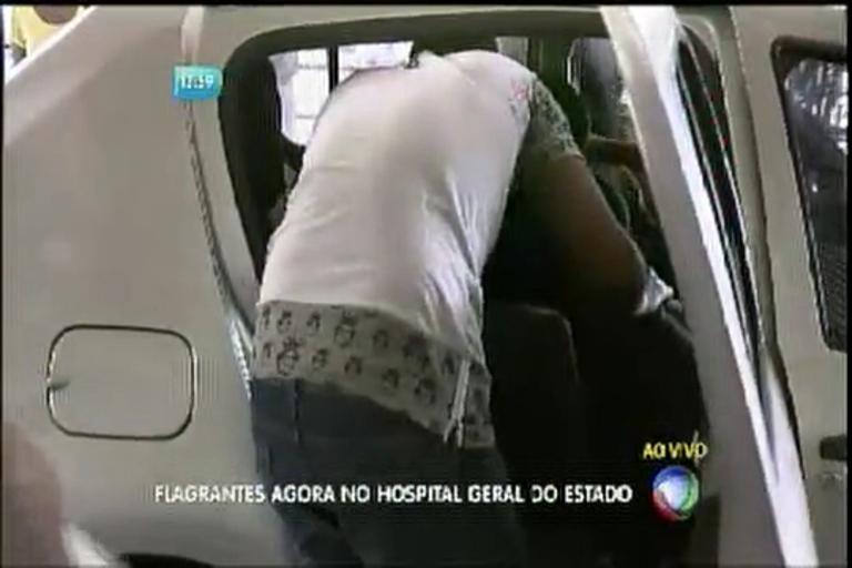 Flagrantes agora no Hospital Geral do Estado