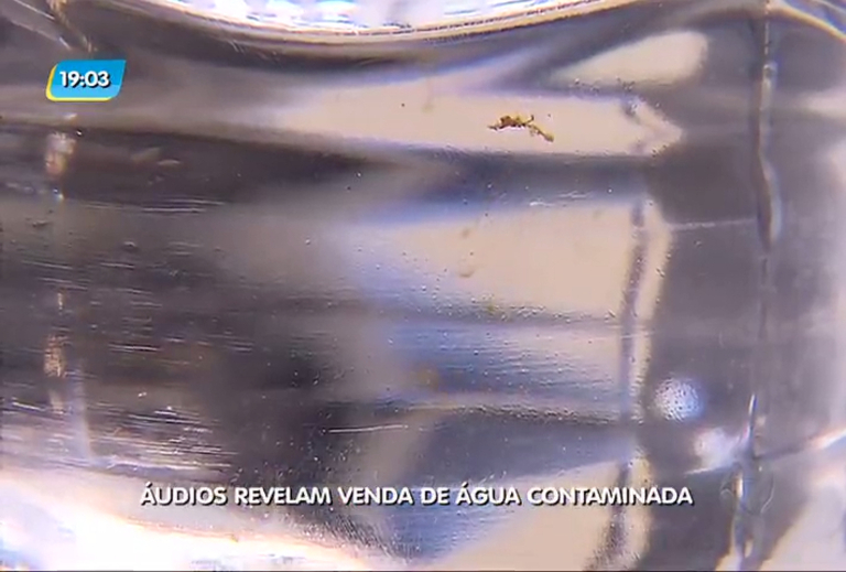 Áudios revelam venda de água contaminada