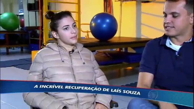 Após mais de dois anos do acidente, Laís Souza apresentar melhoras na luta para voltar a andar
