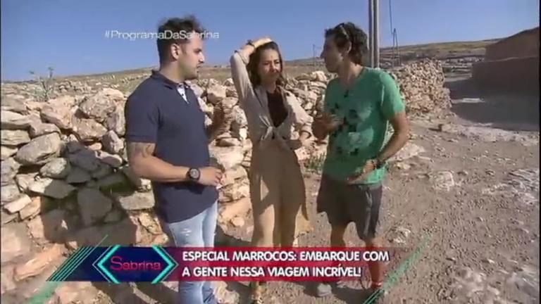 Sabrina Sato e Rodrigo Capella exploram curiosidades do Marrocos