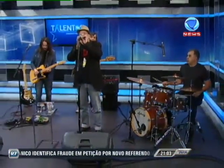 Paulo Meyer & The Thunderheads se apresentam no JR News Talentos