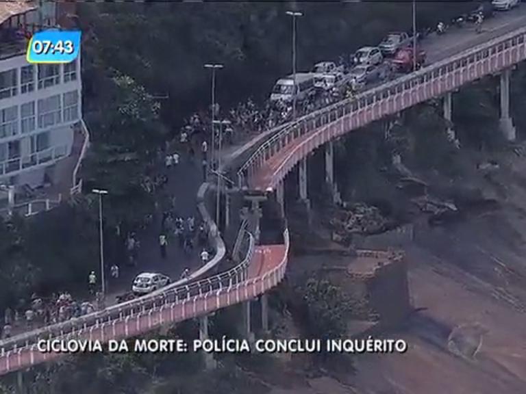 Polícia indicia 14 pessoas por queda da ciclovia Tim Maia