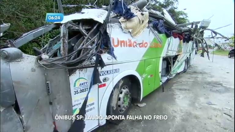 Laudo aponta que falha no freio e excesso de velocidade causou acidente de ônibus na Mogi-Bertioga