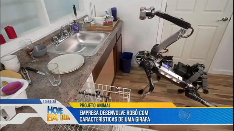 Girafa robô é criada para auxiliar nas tarefas domésticas nos ...