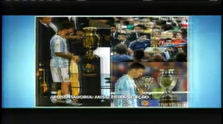 Esporte: Messi diz que não joga mais pela seleção da Argentina