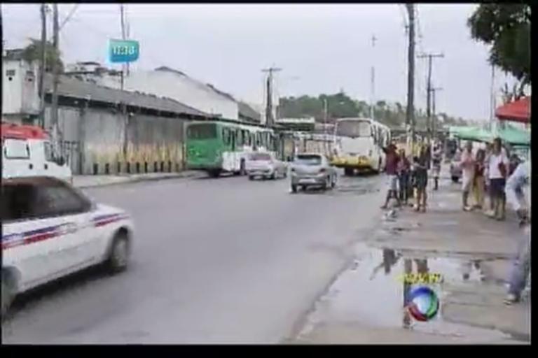 Ônibus atropela idosa no bairro da Calçada