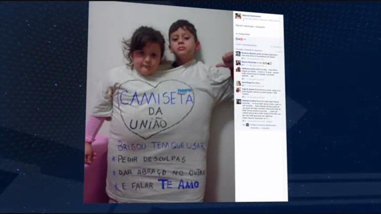 Pai cria 'camiseta da união' para punir os filhos e gera polêmica na ...