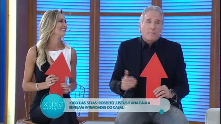 Roberto Justus e Ana Paula revelam suas intimidades no Jogo das ...
