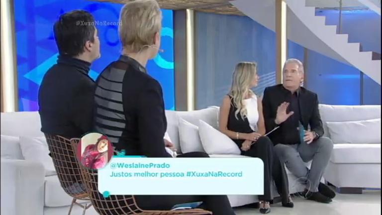 Xuxa Meneghel recebe Roberto Justus e Ana Paula Siebert; confira ...