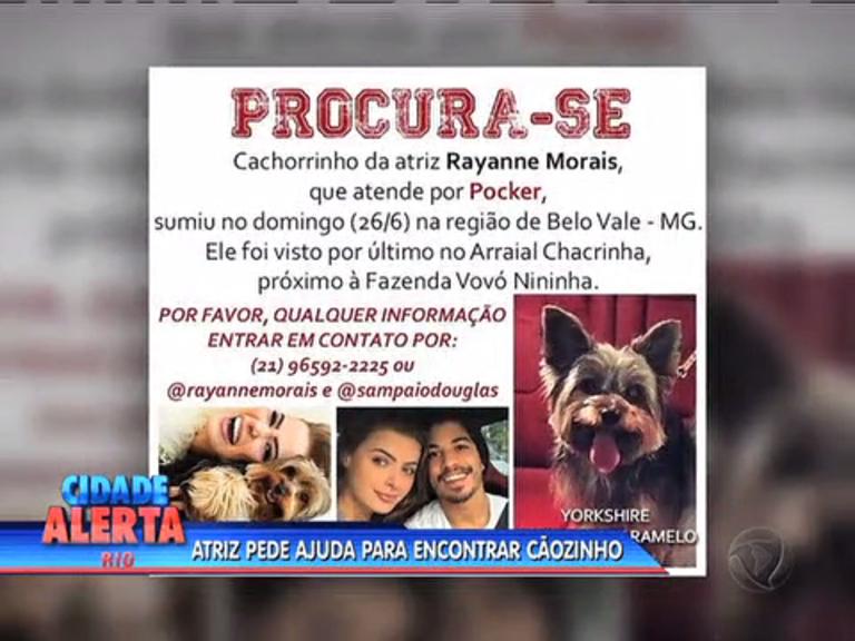 Atriz de Os Dez Mandamentos pede ajuda para encontrar cão