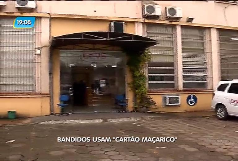 """Bandidos usam """"cartão maçarico"""""""