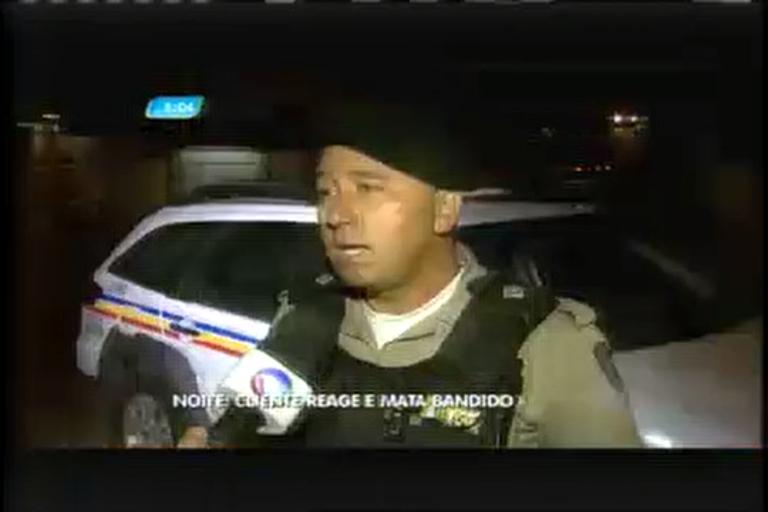 Cliente reage a assalto e mata bandido em Contagem (MG)