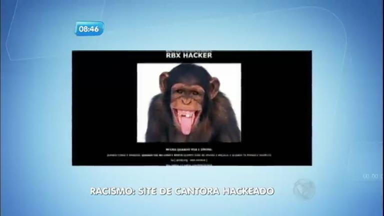 Racismo: hackers invadem site de Negra Li e colocam foto de um macaco
