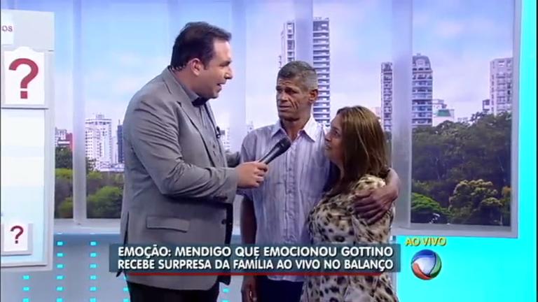 Mendigo que ajudou Gottino nas ruas de São Paulo reencontra ...