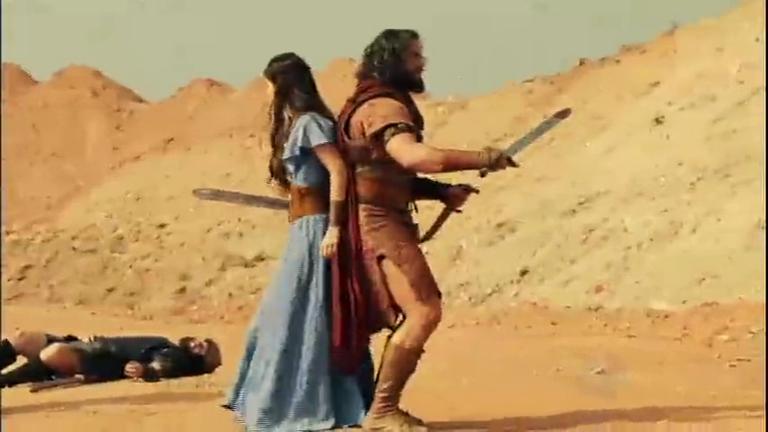 Josué luta com soldados e salva Aruna e Elieber - Entretenimento ...